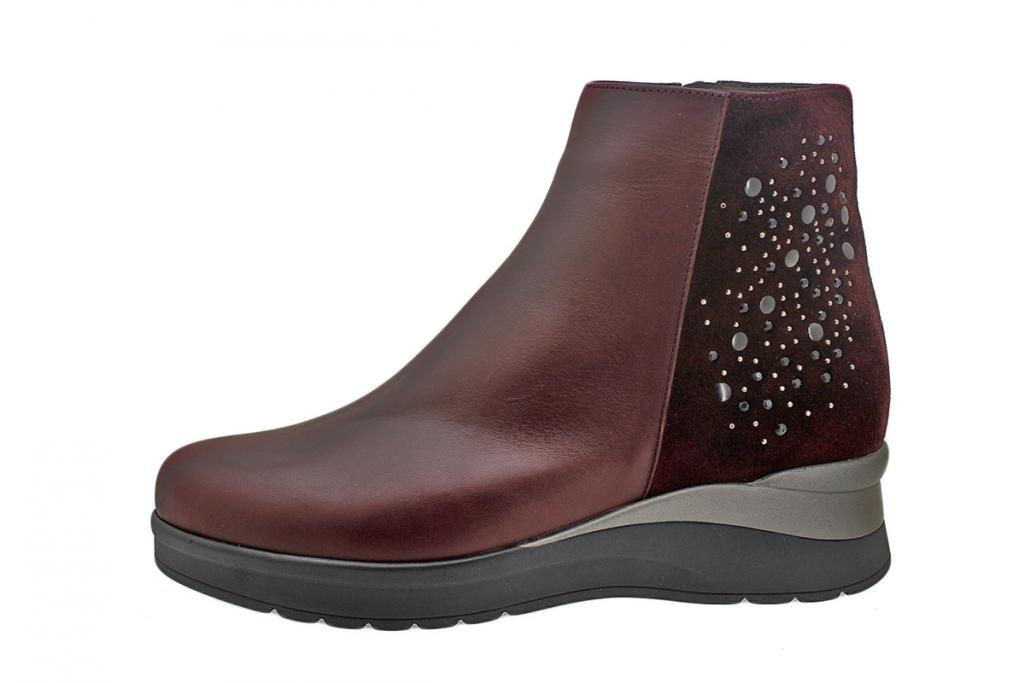 Ankle Boot Bordeaux Leather 195744