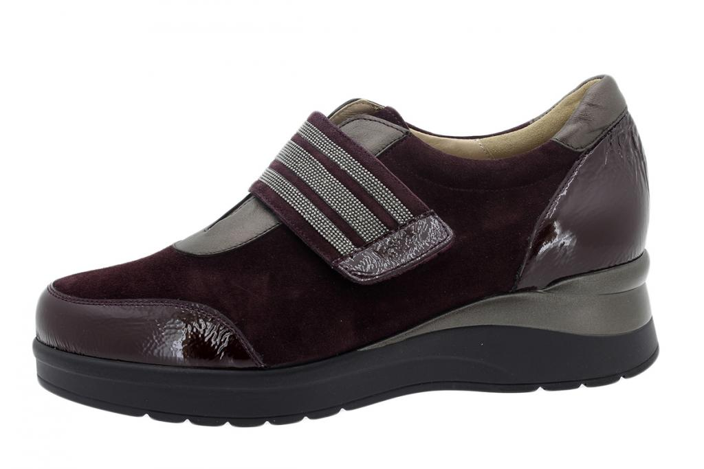 Velcro Shoe Bordeaux Patent 195752