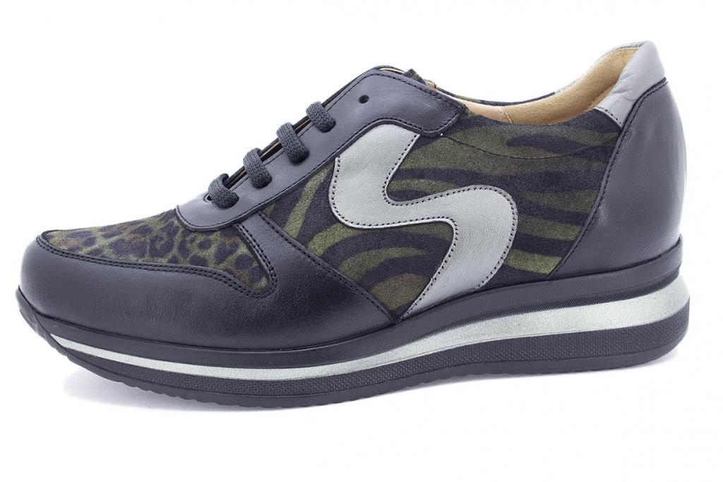 Sneaker Black Leather 195767