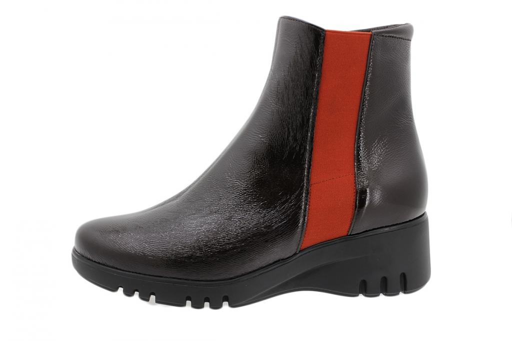 Ankle Boot Brown Patent 195901