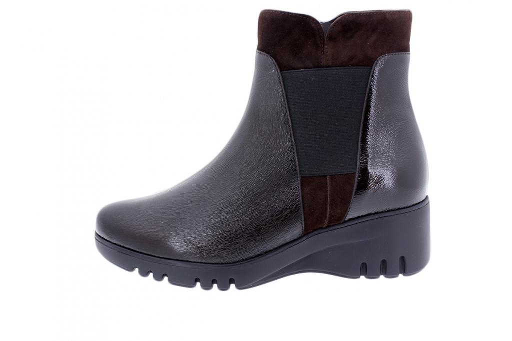 Ankle Boot Brown Patent 195905