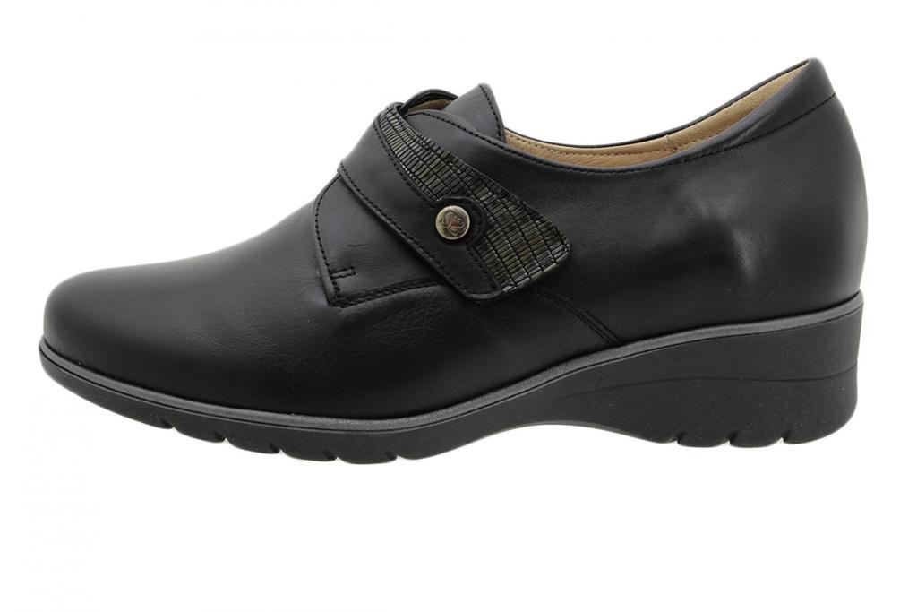 Velcro Shoe Black Leather 195952