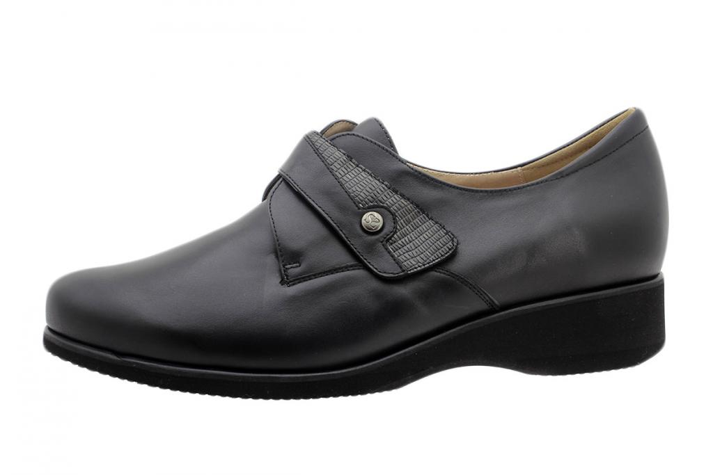 Velcro Shoe Black Leather 195952