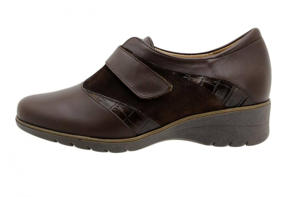 Velcro Shoe Walnut Leather 195956