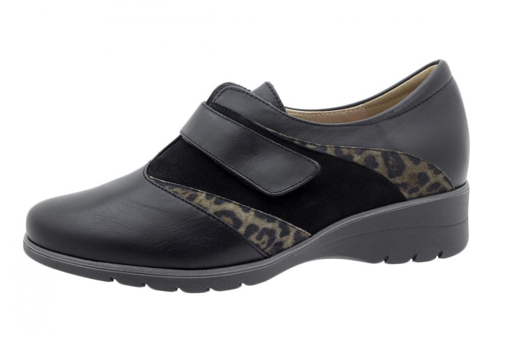 Velcro Shoe Black Leather 195956