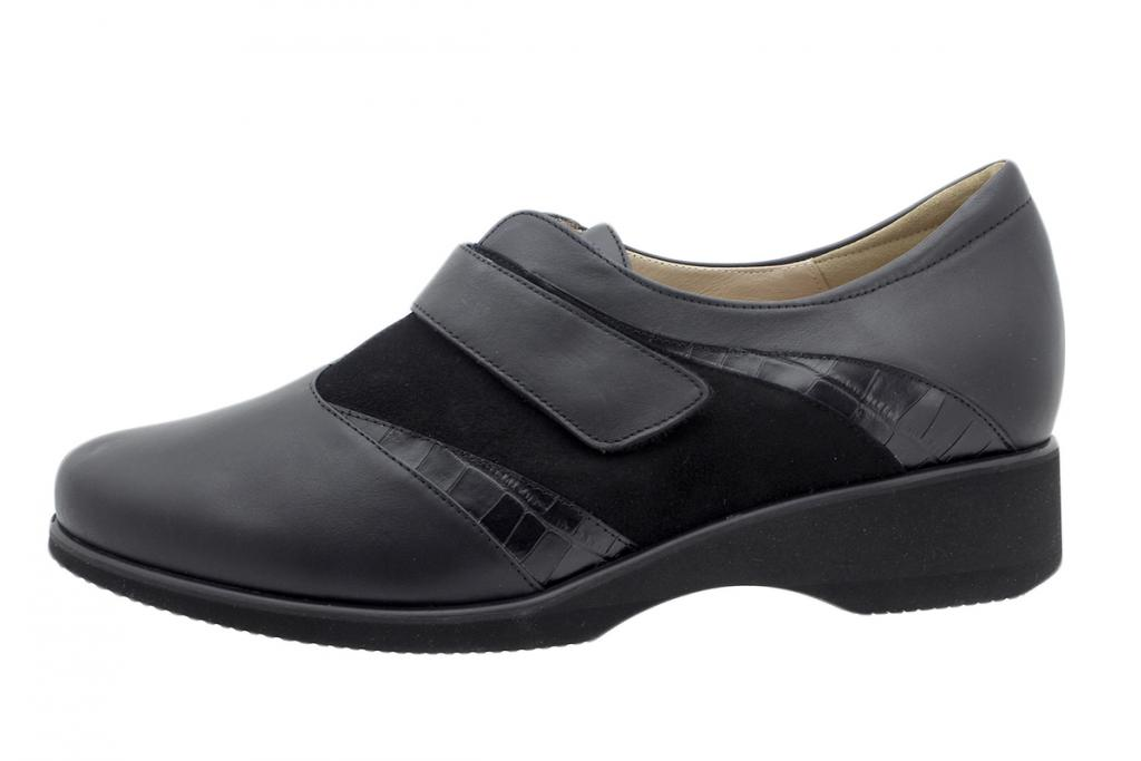 Velcro Shoe Black Leather 195956
