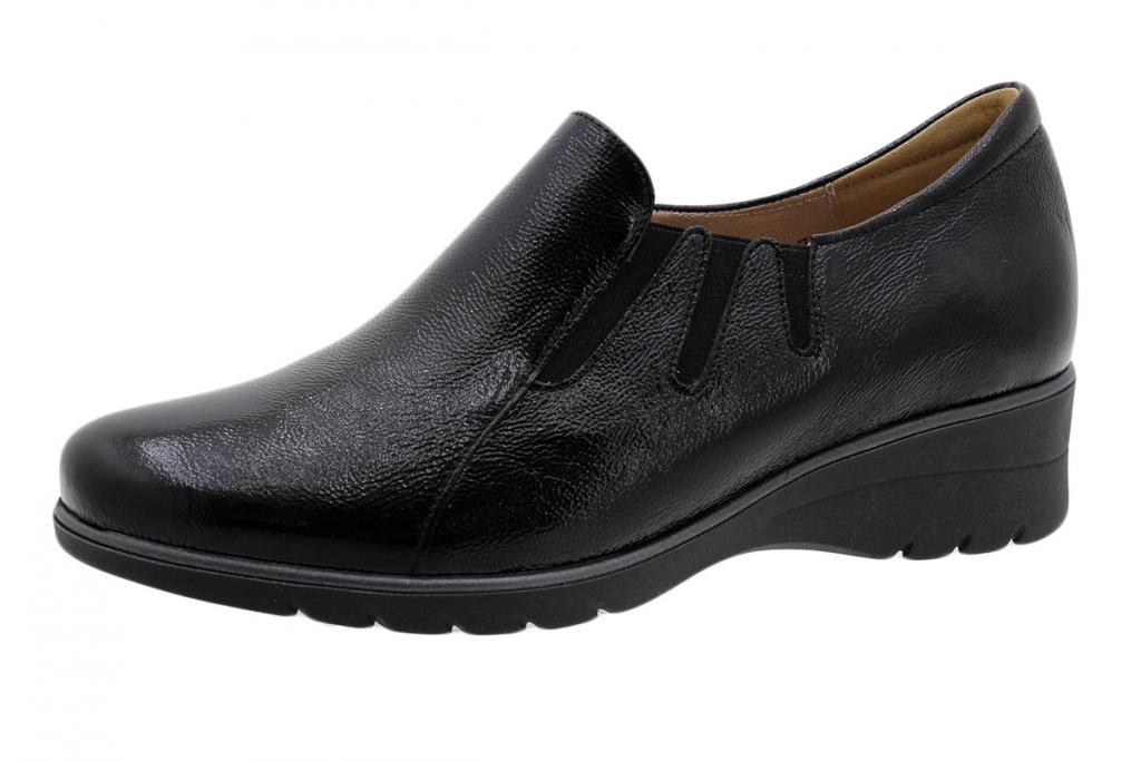Ankle Boot Shoe Black Patent 195958