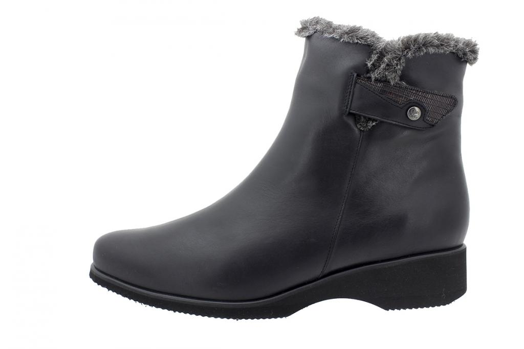 Ankle Boot Black Leather 195974