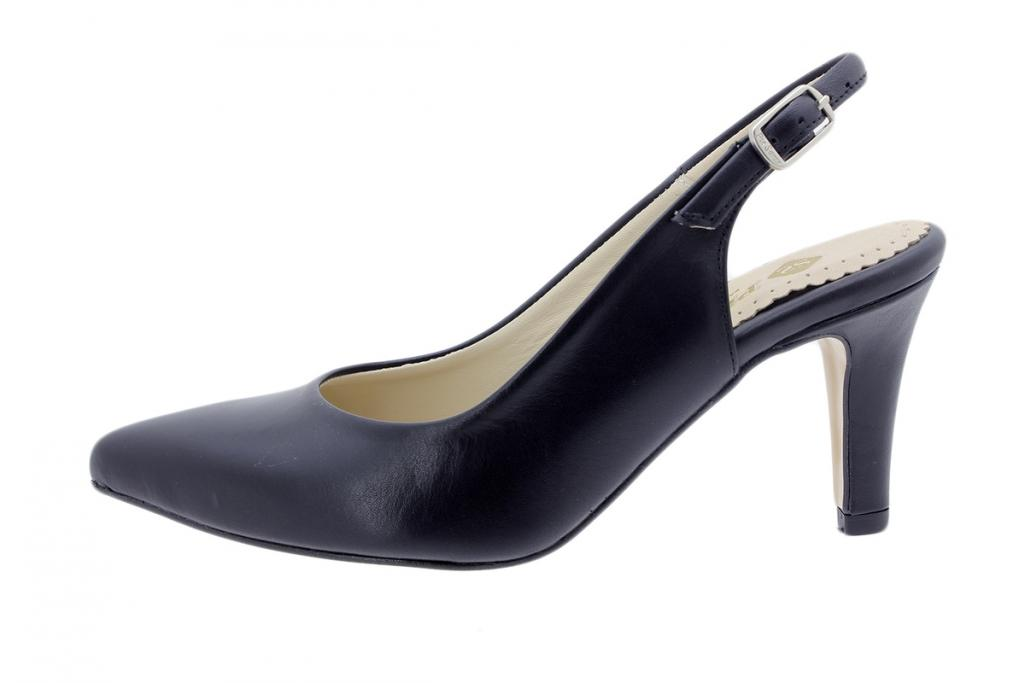 Court shoe Leather Black 200181