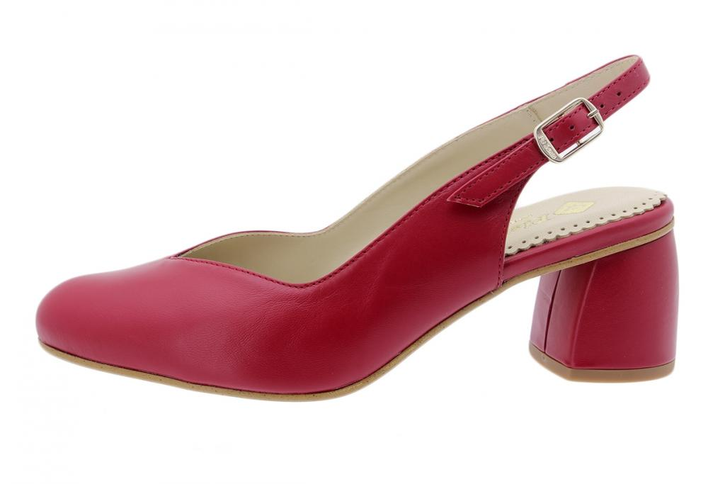 Court shoe Red Leather 200229