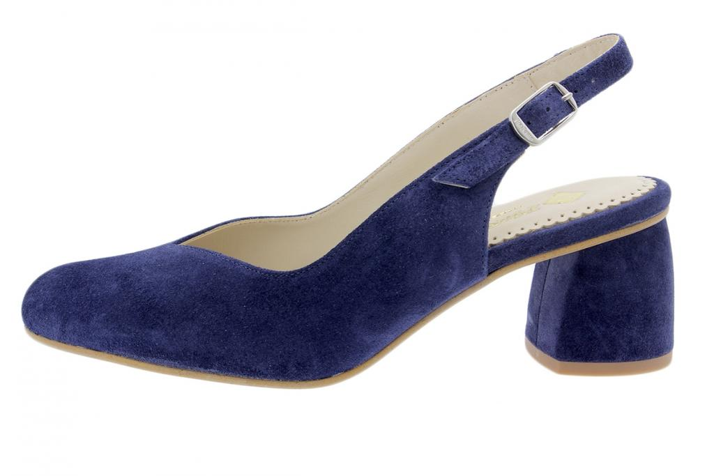 Court shoe Blue Suede 200229
