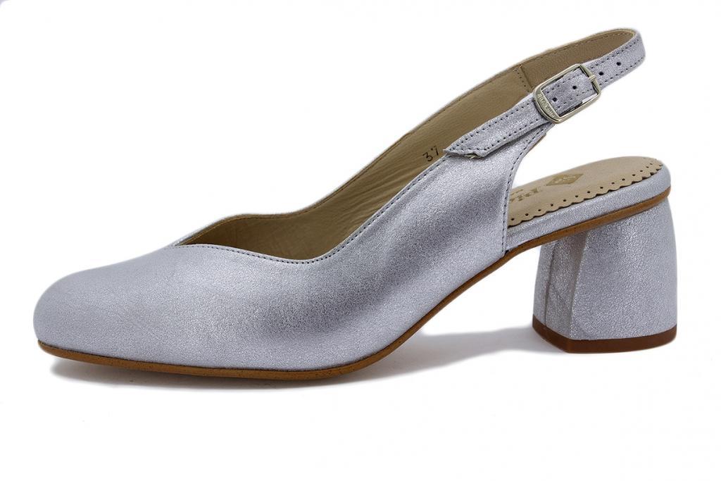 Court shoe Metal Suede Pearl 200229