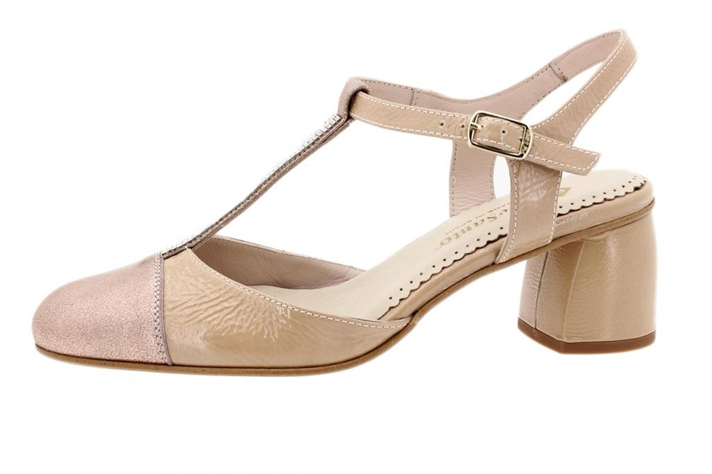 T-Strap Nude Metal Suede 200235
