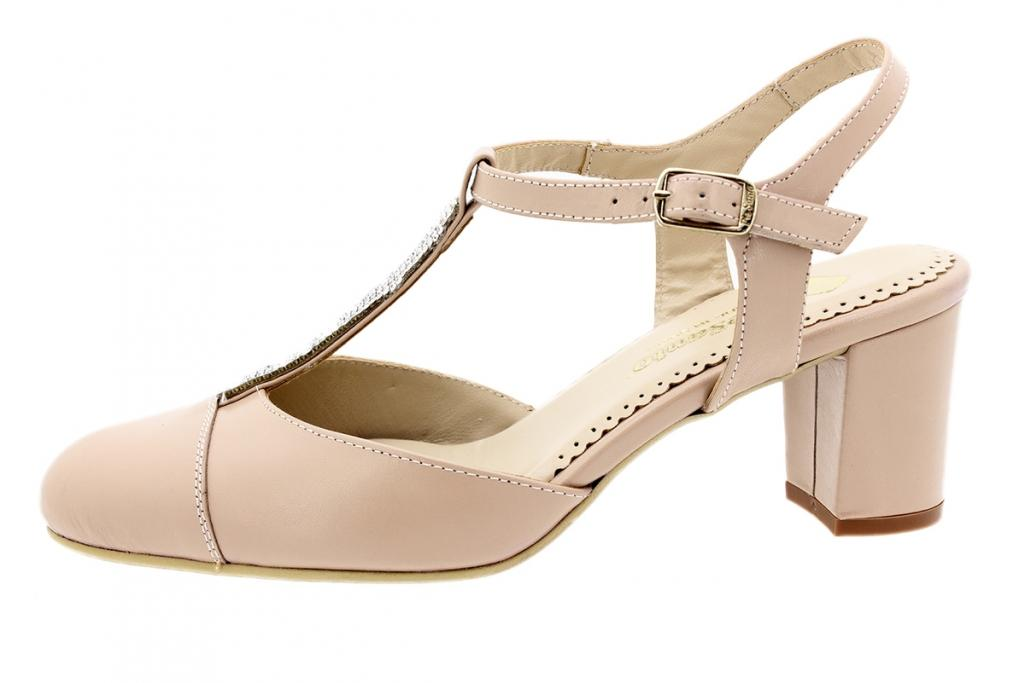 T-Strap Nude Leather 200235
