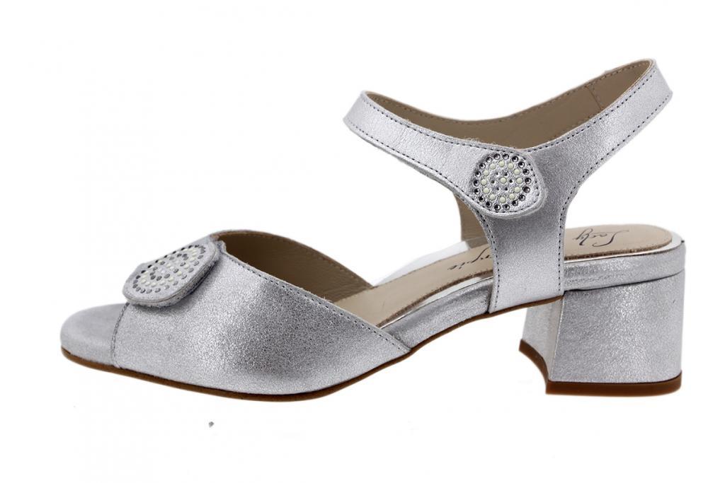 Heel Sandal Pearl Metal Suede 200288