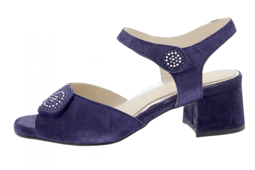 Heel Sandal Blue Suede 200288