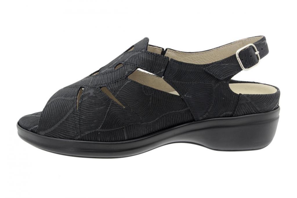 Removable Insole Sandal Black Leather 200401