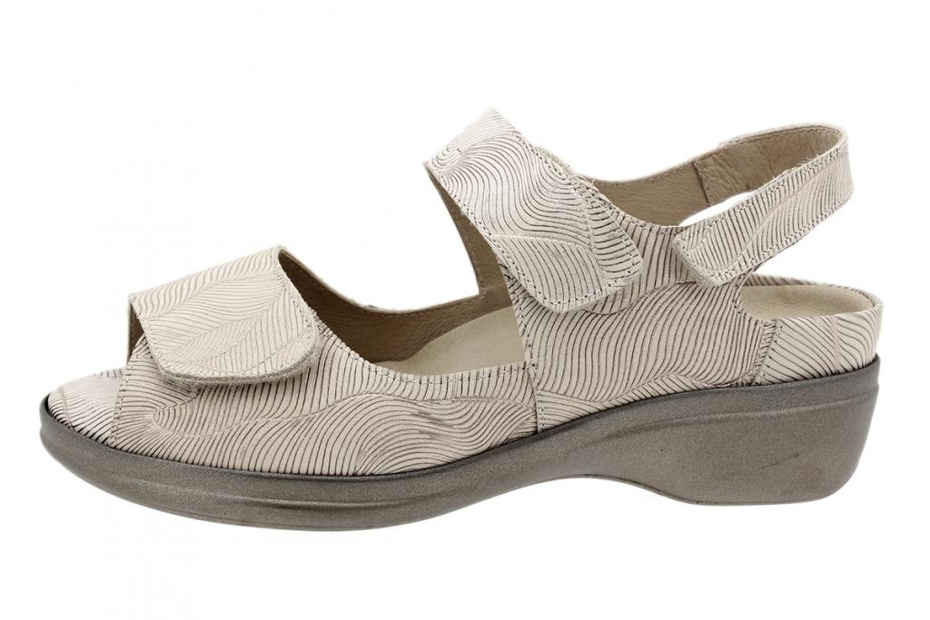 Removable Insole Sandal Beige Leather 200402