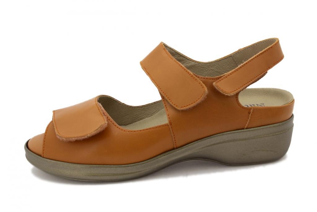 Removable Insole Sandal Orange Leather 200402