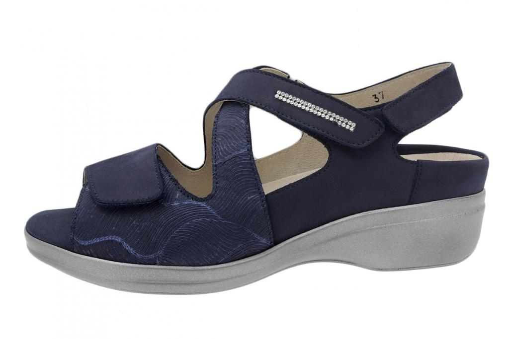 Removable Insole Sandal Blue Nubuck 200403