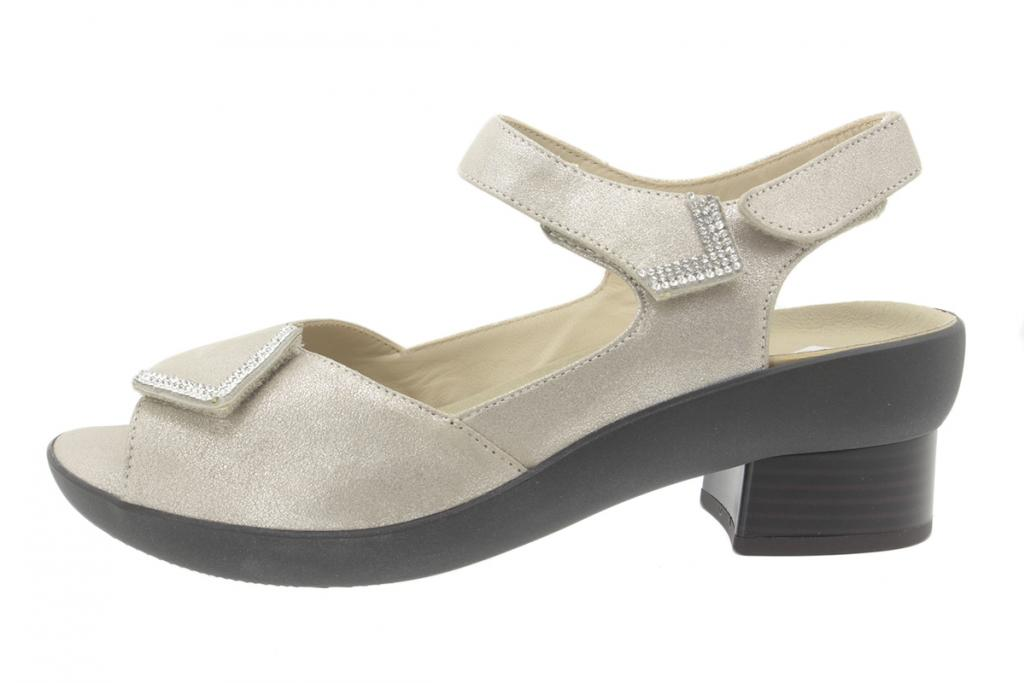 Removable Insole Sandal Metal Suede Mink 200436