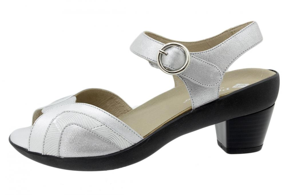 Removable Insole Sandal Silver Metal 200444
