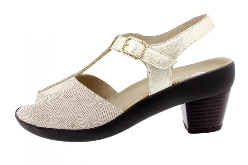 Removable Insole Sandal Beige Leather 200448