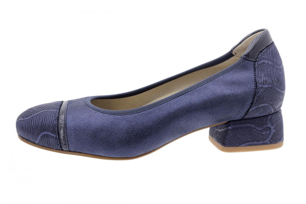 Flat shoe Blue Leather 200533