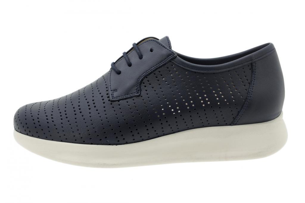 Tie shoe Blue Leather 200733