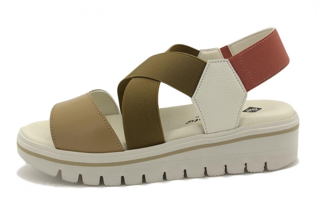Removable Insole Sandal Tan Leather 200787