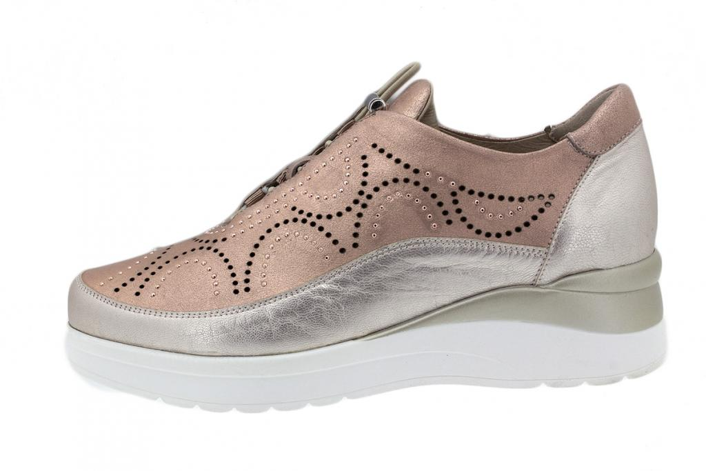 Lace-up Shoe Salmon Metal 200754
