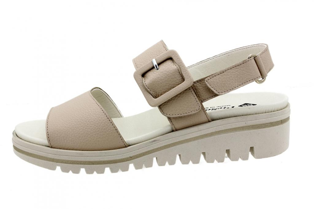 Removable Insole Sandal Beige Leather 200773