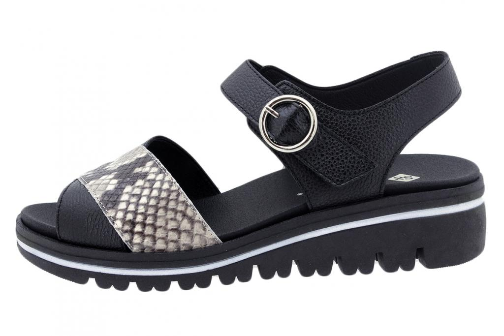 Removable Insole Sandal Black Leather 200778