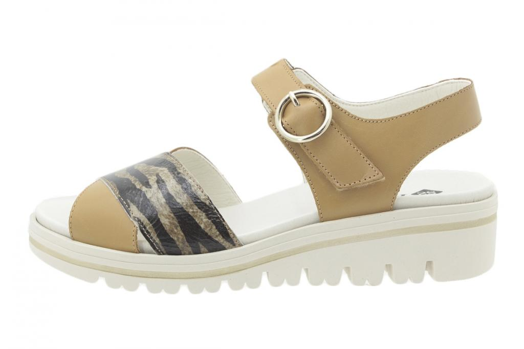 Removable Insole Sandal Leather Tan 200778