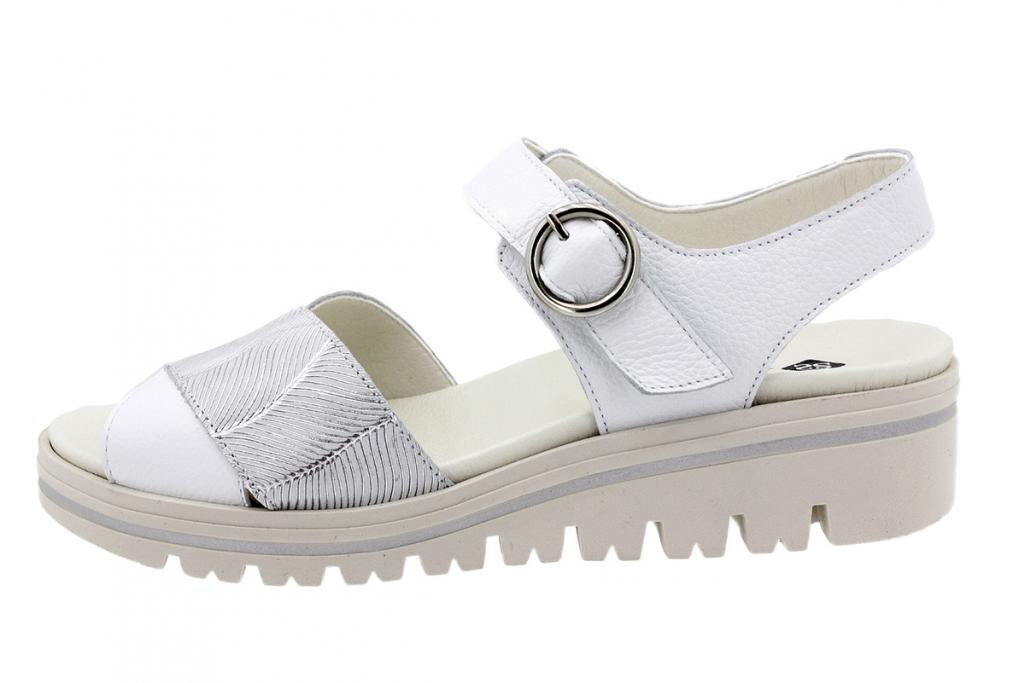 Removable Insole Sandal White Leather 200778