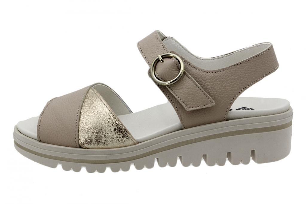 Removable Insole Sandal Beige Leather 200778