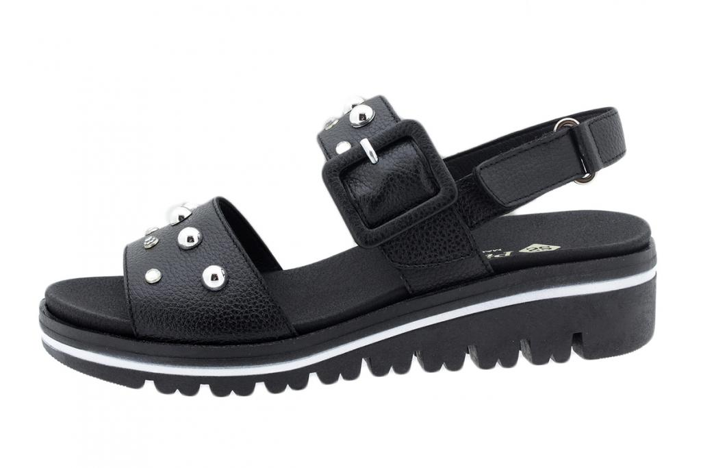 Removable Insole Sandal Black Leather 200780