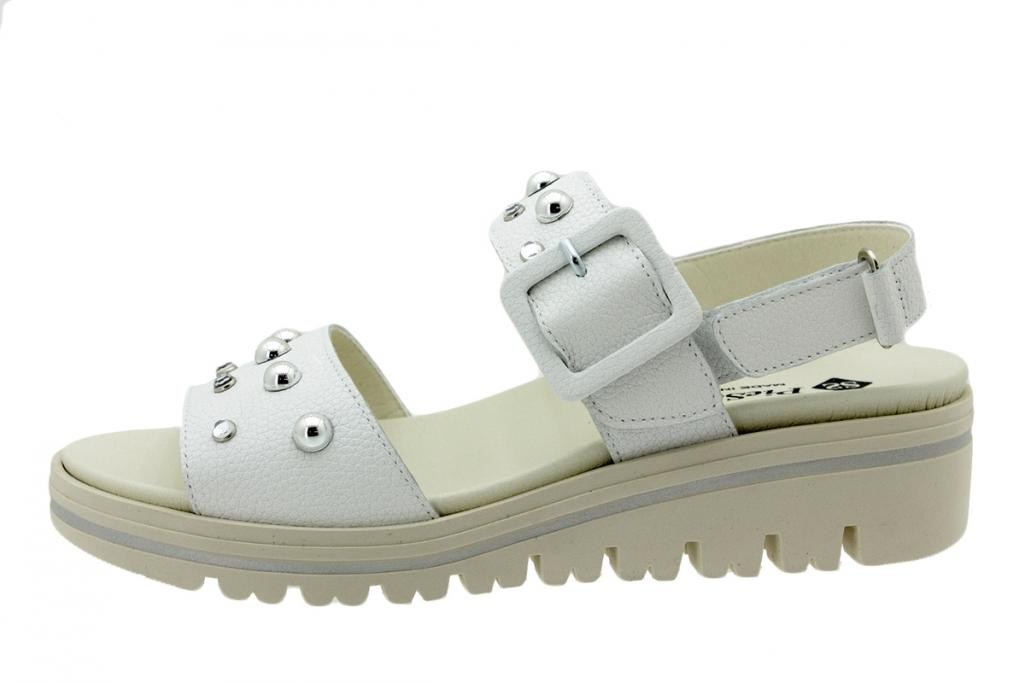 Removable Insole Sandal White Leather 200780