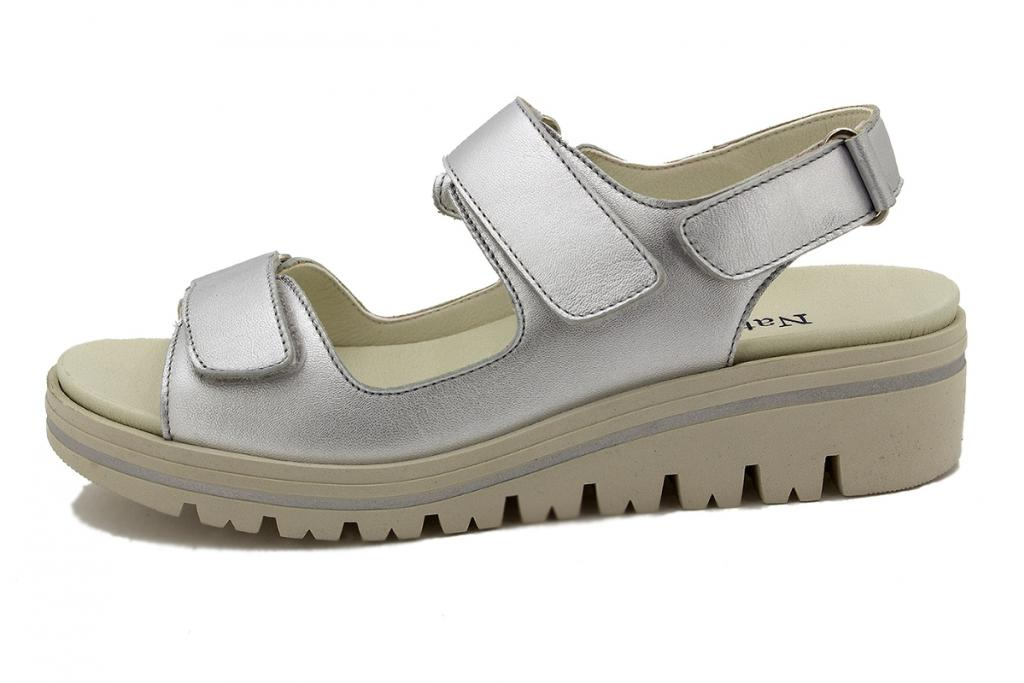 Removable Insole Sandal Silver Metal 200781