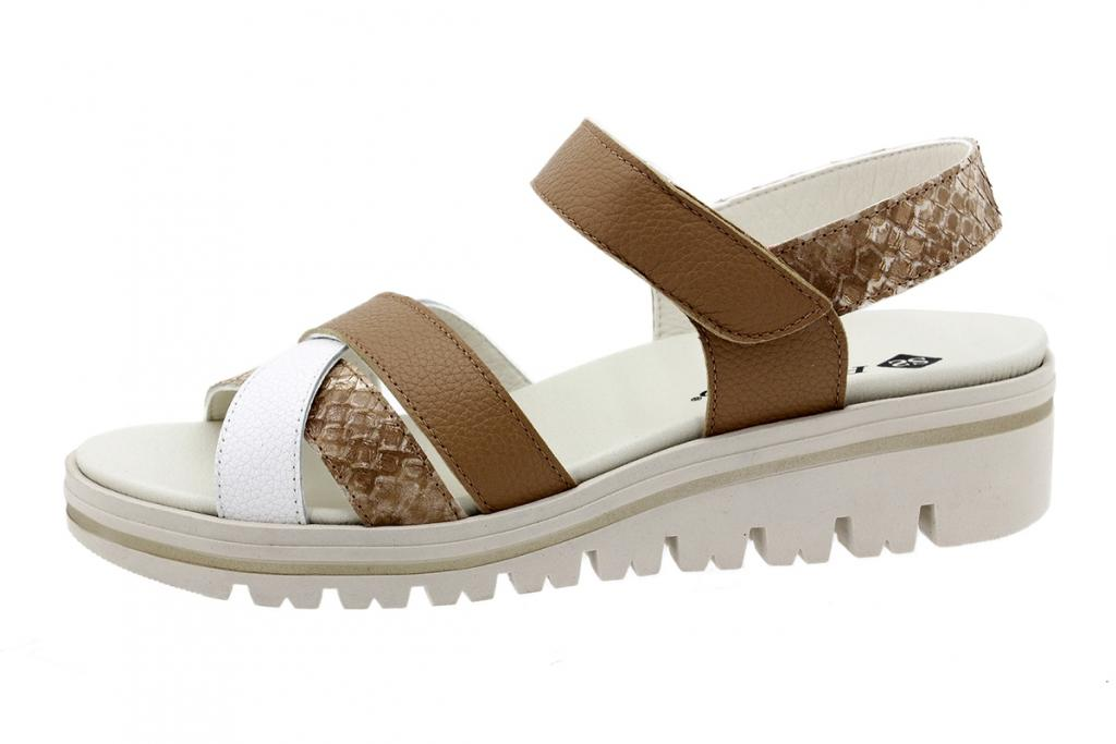 Removable Insole Sandal White Leather 200784