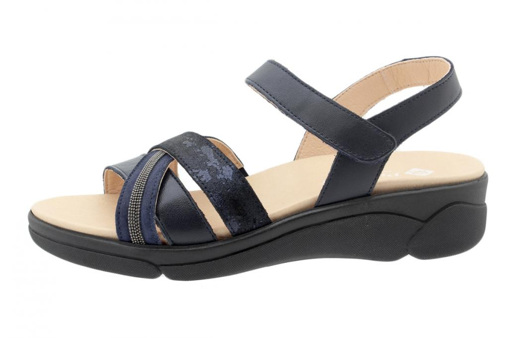 Removable Insole Sandal Blue Leather 200795
