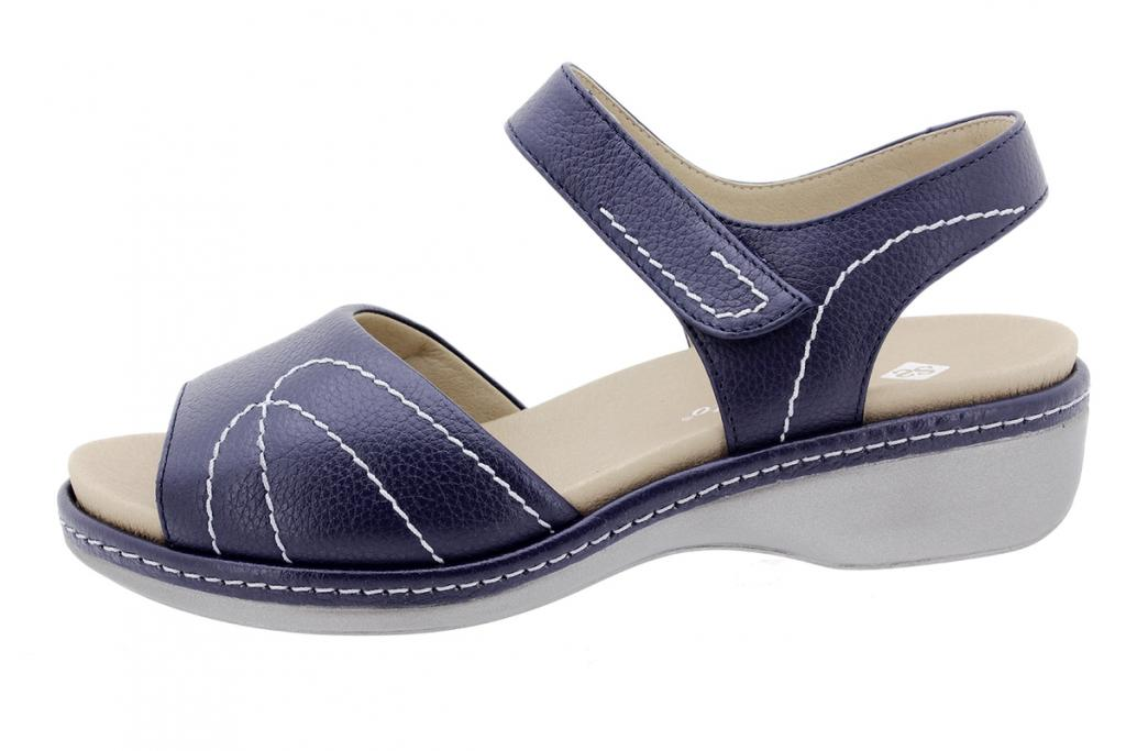 Removable Insole Sandal Blue Leather 200801