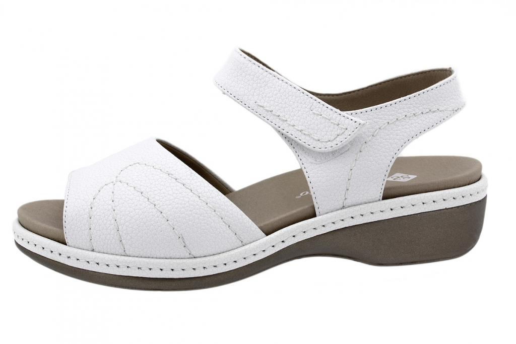 Removable Insole Sandal White Leather 200801