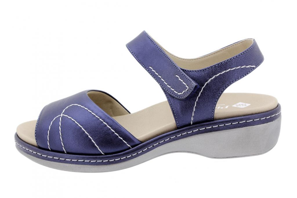 Removable Insole Sandal Blue Metal 200801