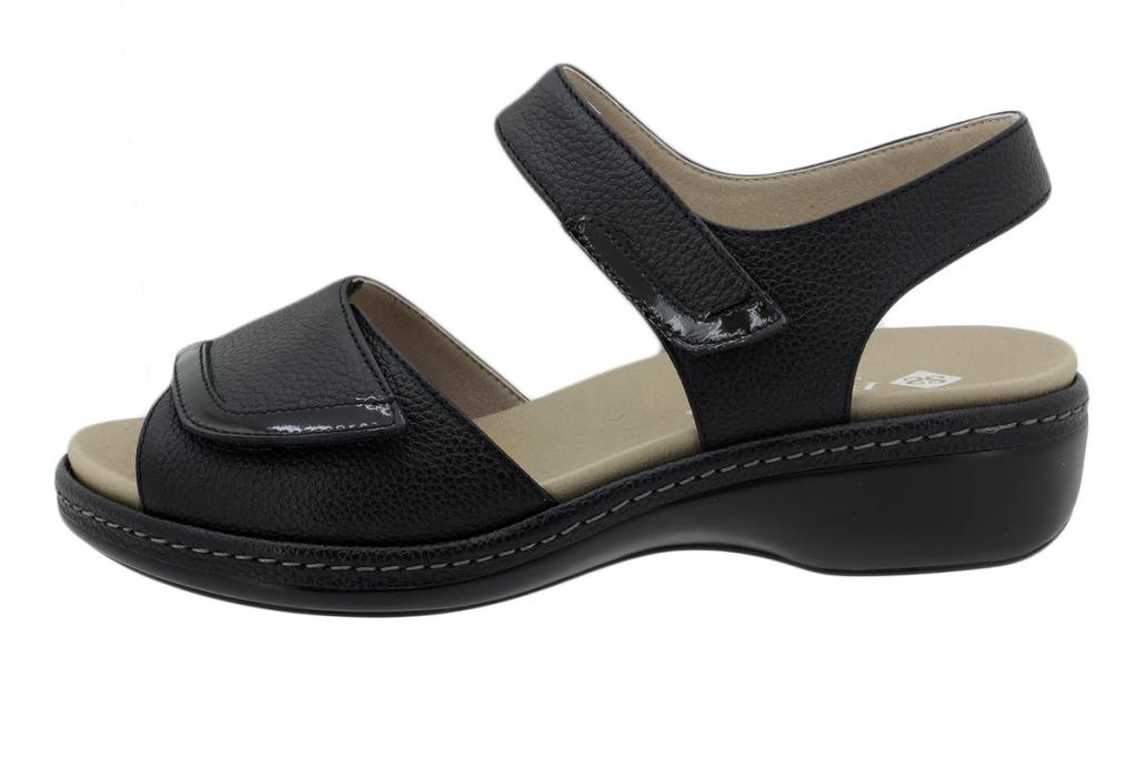 Removable Insole Sandal Leather Black 200802
