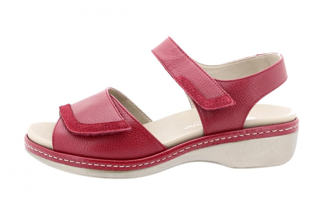 Removable Insole Sandal Red Leather 200802