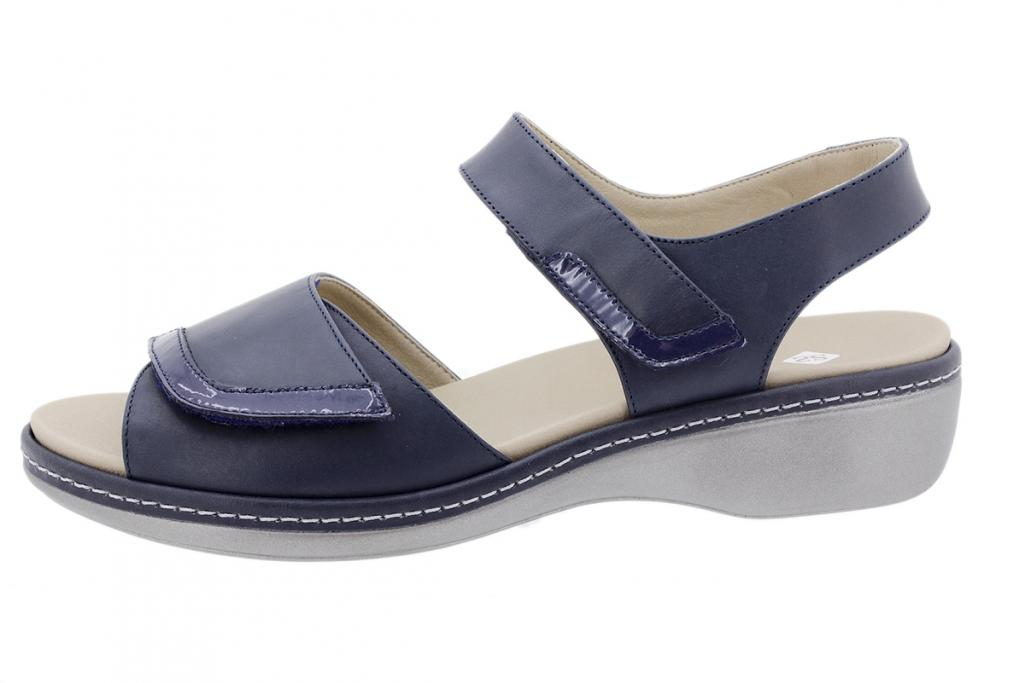 Removable Insole Sandal Blue Leather 200802