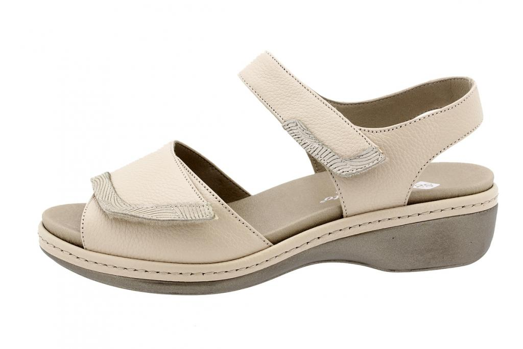 Removable Insole Sandal Beige Leather 200802