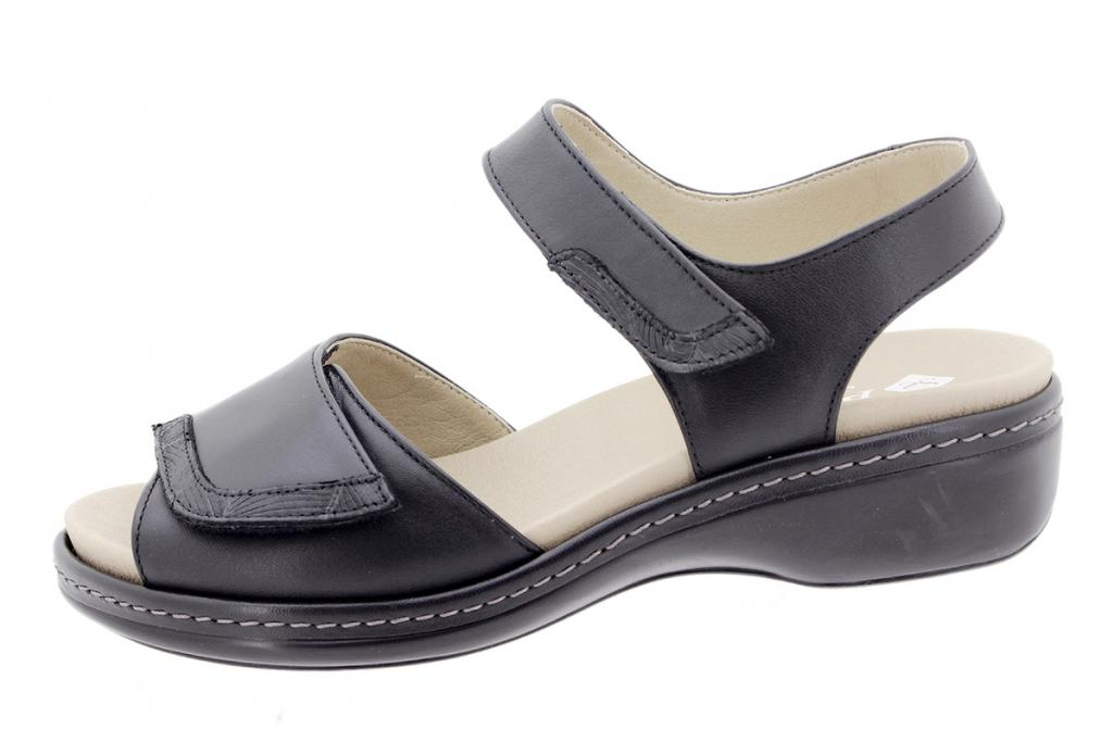 Removable Insole Sandal Black Leather 200802