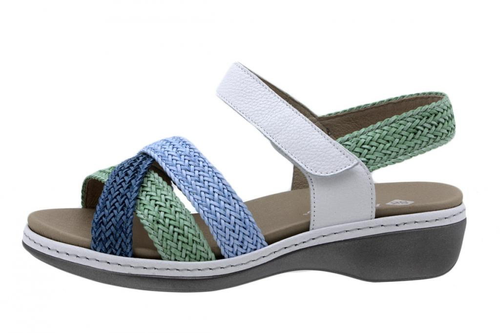Removable Insole Sandal Interlaced Turquoise-Mint-Sky 200809